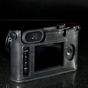 Leica Q camera case made from black leather by Classic Cases