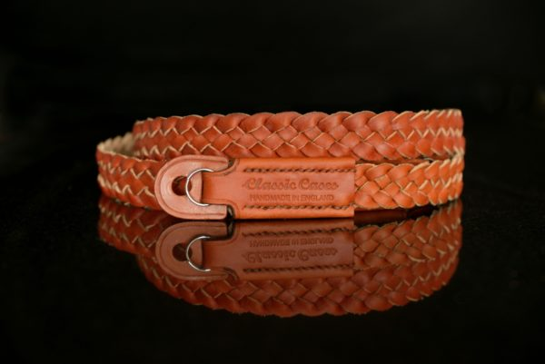 Hand made braided camera neck strap from classic cases