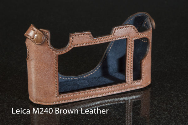 Leica M240 in Brown Leather with blue lining