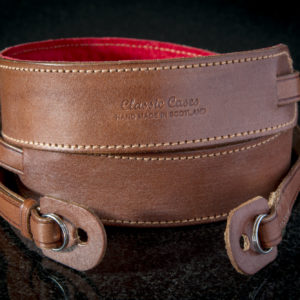 Padded Camera strap in Brown leather from Classic Cases