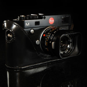 Leica M240 camera case in black leather